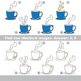 Visual game for kids to find hidden couple of objects. Stock Image