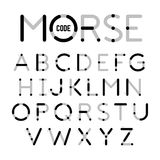 Visual guide learning Morse Code Royalty Free Stock Photo