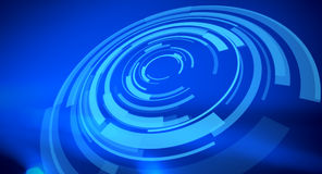Visual hud graphics abstract blue background Stock Photos
