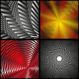 Visual illusion. On a gray background Royalty Free Stock Photography