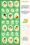 Spring or Easter visual logic puzzle Stock Photos