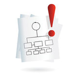 Visual map icon for business Royalty Free Stock Photos
