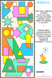 Visual math puzzle - count rectangles. Educational visual math puzzle: Find and count all the rectangles. Answer included Royalty Free Stock Photography