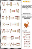 Visual math puzzle with roman numerals and matchsticks. Visual math puzzle with roman numerals: In every row reposition just one matchstick to make the equation Stock Image