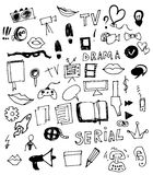 Visual Media Vector Doodle Royalty Free Stock Photo
