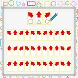 Visual perception game. perception game for child, attention development work for students. Visual perception game. perception game for kids, attention royalty free illustration