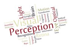 Visual Perception Word Cloud Stock Photography