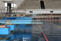 Visual places in the swimming pool Olympic in Moscow Royalty Free Stock Photography