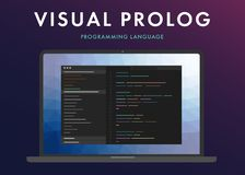Visual Prolog programming language royalty free stock image