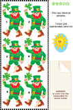 Visual puzzle - find two identical images of leprechauns Royalty Free Stock Photos