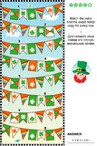 Visual puzzle with rows of St. Patrick`s Day bunting flags Royalty Free Stock Images