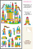 Visual puzzle - toy town buildings and details Stock Images