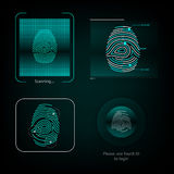 Visual response finger print Stock Image