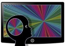 Visual Stimulation flooding the Brain Stock Photo