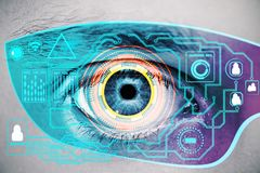 Visual technology concept Stock Image