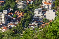 Of the top of the hill of Urca royalty free stock images