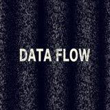Visualisatie van binaire code in de gegevensstroom Cryptografie, bitkoin, het binnendringen in een beveiligd computersysteem, inf Royalty-vrije Stock Fotografie