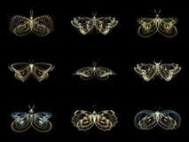 Visualisatie van Fractal Vlinders vector illustratie