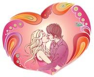 Visualisatie van liefde royalty-vrije illustratie