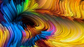 Visualisatie van Vloeibare Kleur Stock Foto