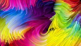 Visualisatie van Vloeibare Kleur Royalty-vrije Stock Fotografie