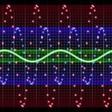 Visualisation électronique illustration stock