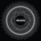 Visualisation circulaire de gamme de gris de grandes données Infographic futuriste Conception esthétique de l'information Complex illustration stock