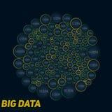 Visualisation colorée de grandes données circulaires Infographic futuriste Conception esthétique de l'information Complexité de d Photos libres de droits