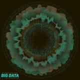 Visualisation colorée de grandes données Infographic futuriste Conception esthétique de l'information Complexité de données visue Photographie stock libre de droits