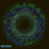 Visualisation colorée de grandes données Infographic futuriste Conception esthétique de l'information Complexité de données visue Photographie stock