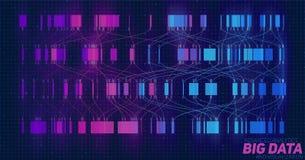 Visualisation colorée de grandes données Infographic futuriste Conception esthétique de l'information Complexité de données visue Photo stock