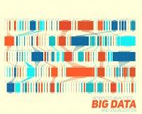 Visualisation colorée de grandes données Infographic futuriste Conception esthétique de l'information Complexité de données visue Images stock