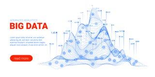 Visualisation d'analyse de Big Data Page d'atterrissage illustration stock