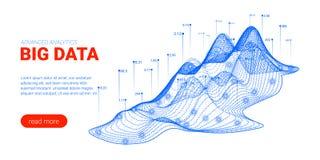 Visualisation d'analyse de Big Data Page d'atterrissage illustration de vecteur