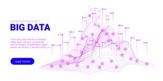 Visualisation d'analyse de Big Data Page d'atterrissage illustration libre de droits