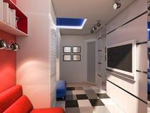 visualisation 3D d'une salle d'enfant illustration de vecteur