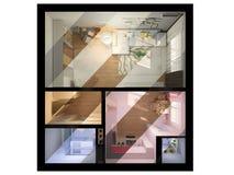 visualisation 3D de conception intérieure un studio Photographie stock
