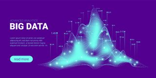 Visualisation d'informatique quantique, tri de Big Data illustration libre de droits