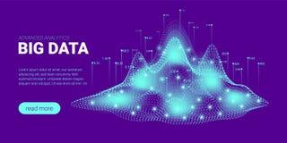 Visualisation d'informatique quantique, tri de Big Data illustration de vecteur