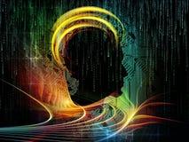 Visualisation d'intelligence de circuit illustration libre de droits
