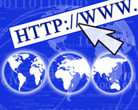 Visualisation d'Internet Image stock