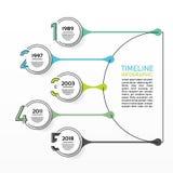 Visualisation de données commerciales Diagramme de processus Éléments abstraits de raph, de diagramme avec 5 étapes, d'options, d illustration libre de droits