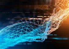 Visualisation de technologie et d'affaires illustration libre de droits