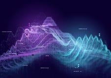 Visualisation des informations sur les données image libre de droits