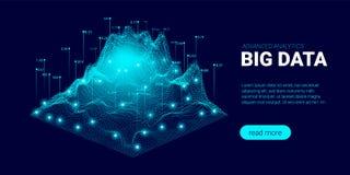 Visualisation et analyse de Big Data illustration libre de droits