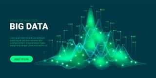 Visualisation et analyse de Big Data illustration stock