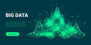 Visualisation et analyse de Big Data illustration de vecteur