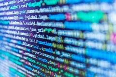 Visualisation för ström för databasbittillträde Dataprogramförtitt Skriva programmera kod på bärbara datorn royaltyfria foton