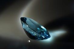 visualisation för vhq för blå topaz för katalogdatalistgemstones oval användbar Royaltyfri Bild