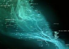 Visualisation futuriste de données illustration libre de droits
